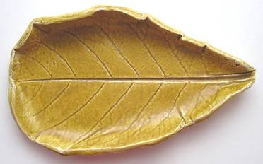 陶艺教学创作流程图 叶形盘